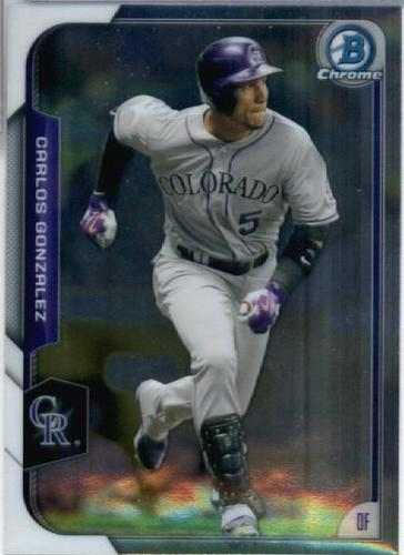 Photo of 2015 Bowman Chrome #27 Carlos Gonzalez