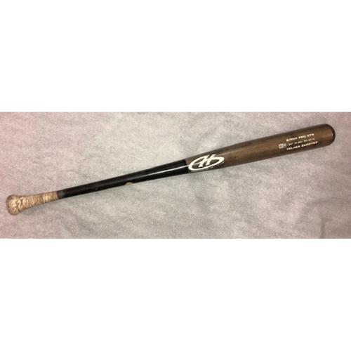 Photo of Yolmer Sanchez Game-Used Broken Bat