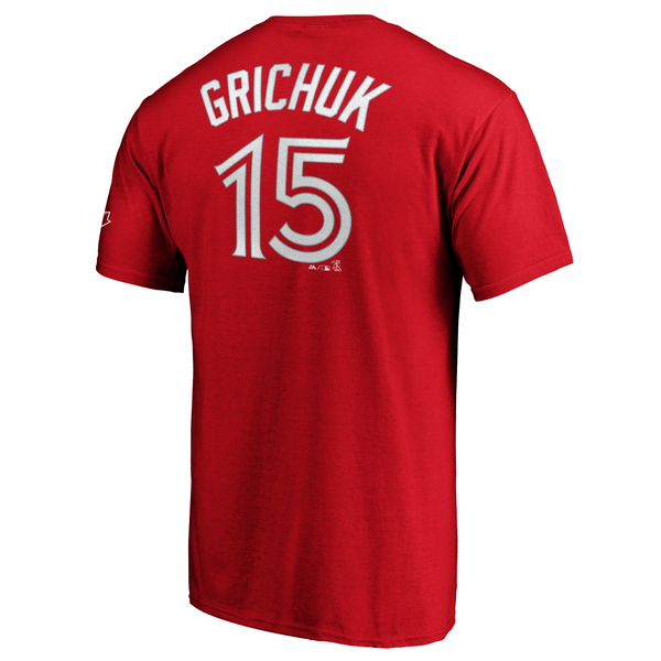 Toronto Blue Jays Randal Grichuk Red Player T-Shirt by Majestic