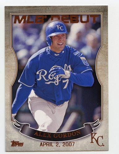 Photo of 2016 Topps MLB Debut Bronze #MLBD2-31 Alex Gordon