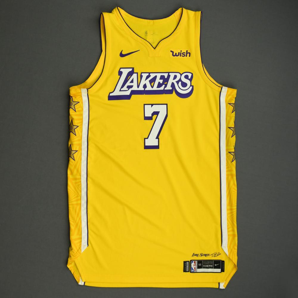 JaVale McGee - Los Angeles Lakers - Christmas Day' 19 - Game-Worn ...