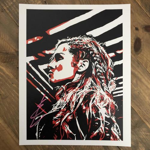Photo of Becky Lynch  SIGNED 11 x 14 Rob Schamberger Print (2020 Collection)