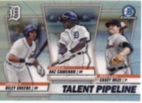 Photo of 2020 Bowman Chrome Talent Pipeline #TPDET Daz Cameron/Riley Greene/Casey Mize