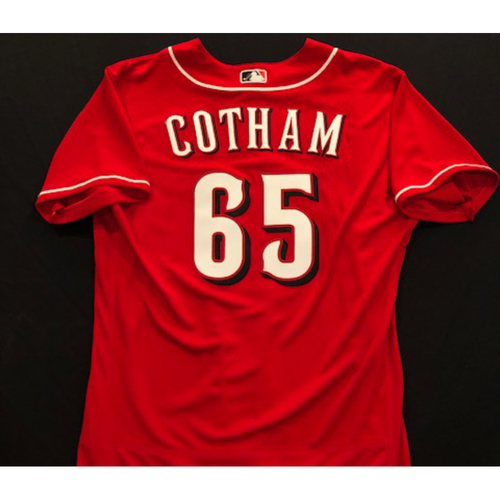 Photo of Caleb Cotham -- 2020 Spring Training Jersey -- Team-Issued -- Size 46