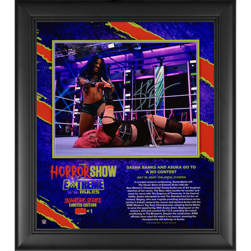 Photo of Sasha Banks SIGNED Extreme Rules 2020 Signature Series Frame (#1 of 1)