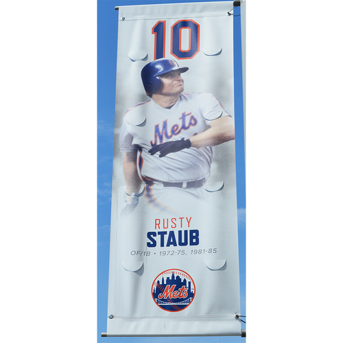 Photo of Rusty Staub #10 - Citi Field Banner - 2017 Season