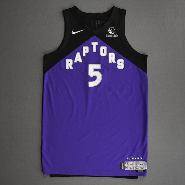 Image of Stanley Johnson - Toronto Raptors - Game-Worn Earned Edition Jersey - Dressed, Did Not Play (DNP) - 2020-21 NBA Season