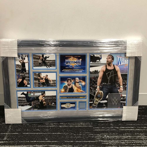 Dean Ambrose WrestleMania 33 Signed Commemorative Plaque