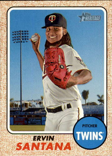 Photo of 2017 Topps Heritage #337 Ervin Santana