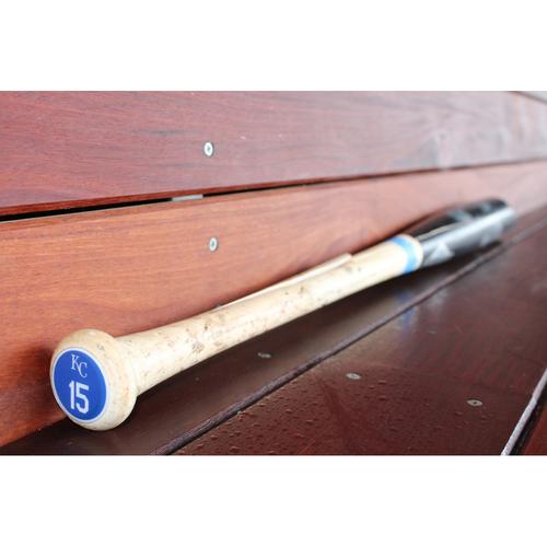 Game-Used Two Piece Broken Bat: Whit Merrifield (KC at DET - 6/28/17)