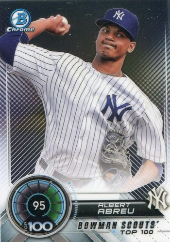 Photo of 2018 Bowman Chrome Scouts Top 100 #BTP95 Albert Abreu