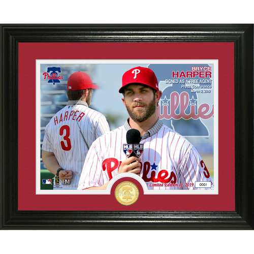 Photo of Bryce Harper Phillies Press Conference Bronze Coin Photo Mint
