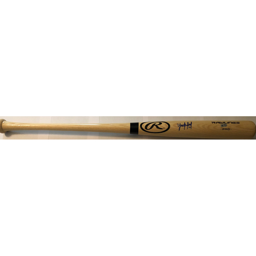 Photo of Yordan Alvarez Autographed Blonde Rawlings Bat