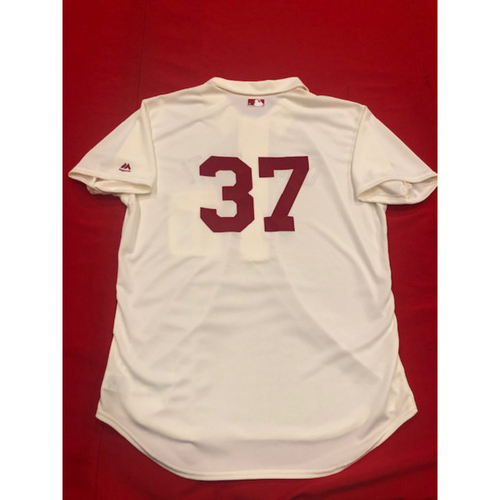 David Hernandez -- 1902 Throwback Jersey -- Game-Used -- SF vs. CIN on May 4, 2019