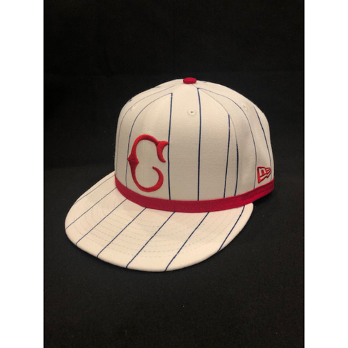Photo of Jesse Winker -- Game-Used Cap -- 1919 Throwback Game -- Nationals vs. Reds on June 2, 2019 -- Size 7 3/8