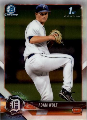 Photo of 2018 Bowman Chrome Draft #BDC185 Adam Wolf