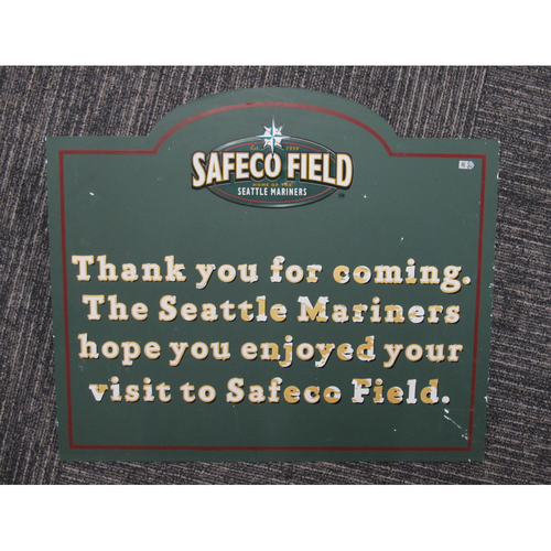 "Photo of Green Sign ""Thank You for Coming"" - Approximately 20""X24"""