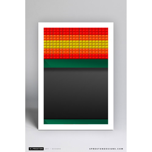 Photo of Astrodome - Minimalist Ballpark Art Print by S. Preston  - Houston Astros