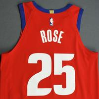 Derrick Rose - Detroit Pistons - Game-Worn City Edition Jersey - 2019-20 Season - Scored Team-High 23 Points