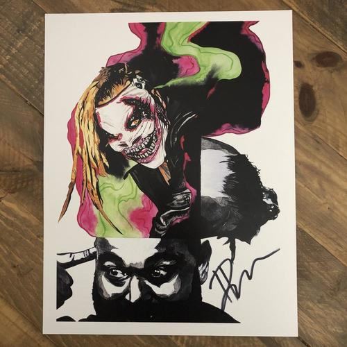Photo of Bray Wyatt  SIGNED 11 x 14 Rob Schamberger Print (2020 Collection)