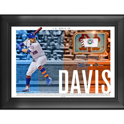 Photo of J.D. Davis Game-Used Baseball Plaque