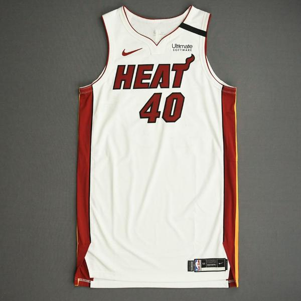 Image of Udonis Haslem - Miami Heat - Game-Worn Association Edition Jersey - Dressed, Did Not Play (DNP) - 2019-20 NBA Season Restart with Social Justice Me...