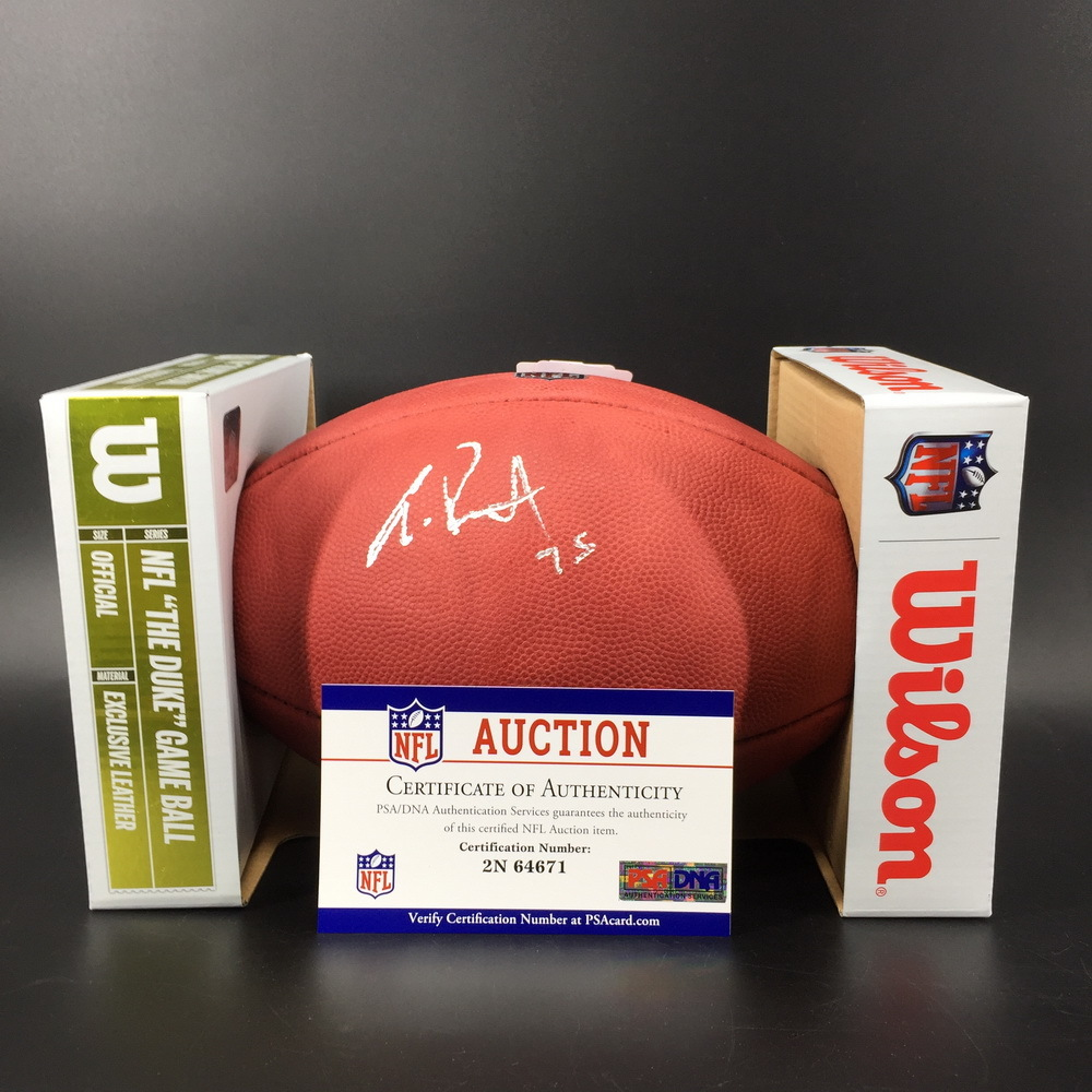 NFL - Saints Andrus Peat Signed Authentic Football W/ 100 Seasons Logo