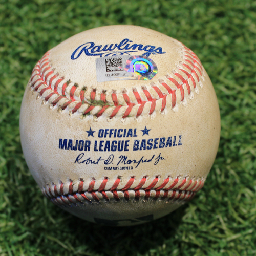 Photo of Game-Used Baseball: Adam Engel 223rd Career Hit (CWS @ KC 9/3/20)