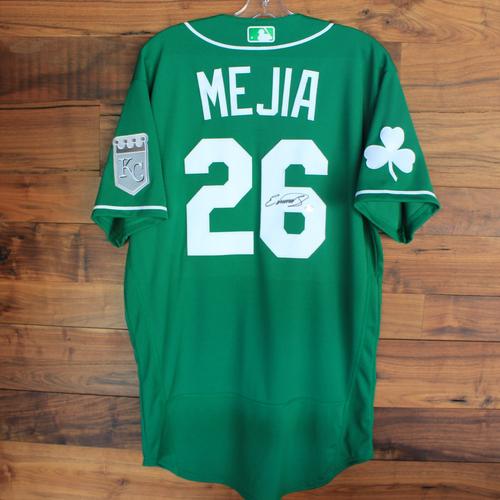 Autographed 2020 St. Patrick's Day Jersey: Erick Mejia #26 - Size 44