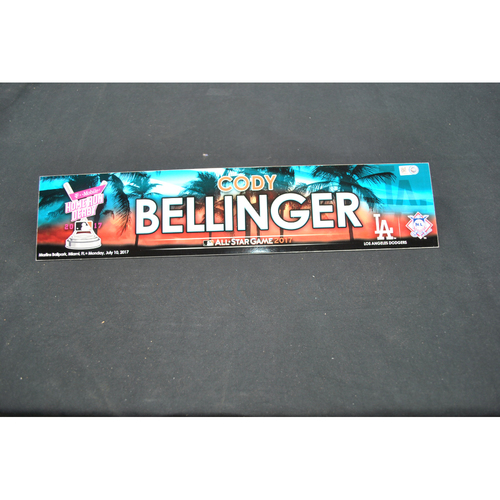 Photo of Game-Used Locker Name Plate - 2017 Home Run Derby (7/10/2017) - Cody Bellinger