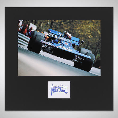 Photo of Jackie Stewart Photograph With Mounted Autograph