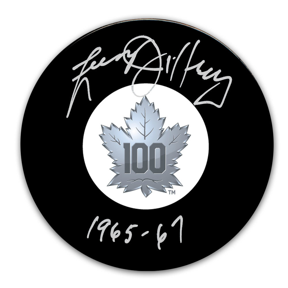 Larry Jeffrey Toronto Maple Leafs 100th Anniversary Autographed Puck
