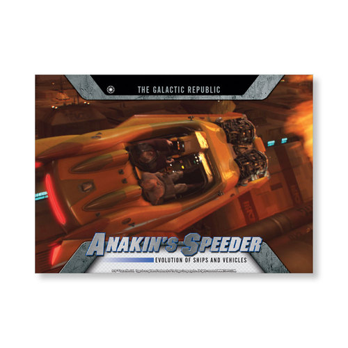 2016 Star Wars Evolution Anakin's Speeder EVOLUTION OF VEHICLES AND Ships Poster - # to 99