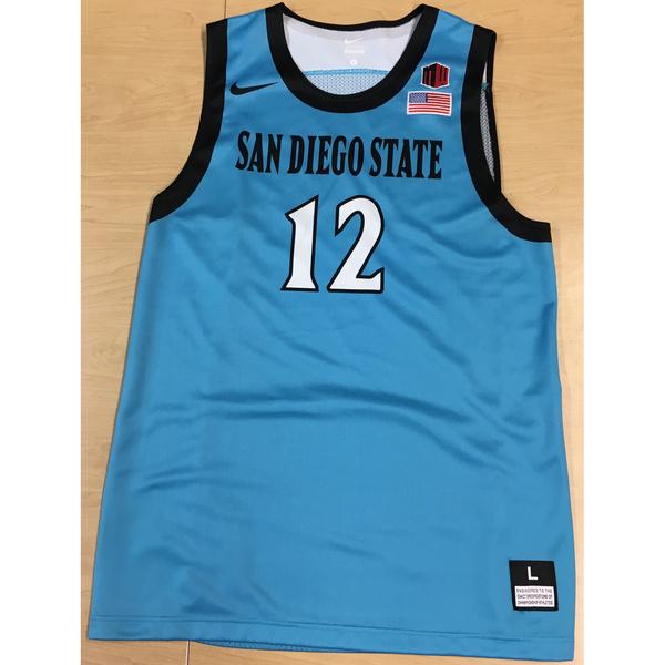 Photo of Game-Worn SDSU Nike N7 Native Night Basketball Jersey: Turquoise #12
