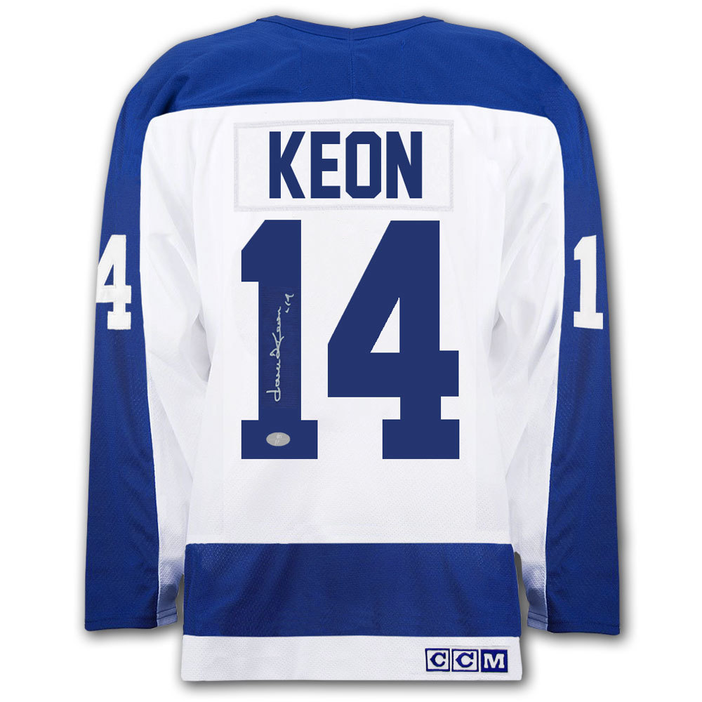 Dave Keon Toronto Maple Leafs CCM White Autographed Jersey