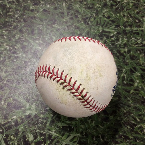 Game-Used Baseball 08/29/17 STL@MIL - Matt Garza - Tommy Pham: Single