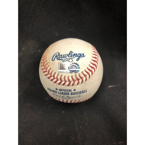 Photo of Christian Yelich Hits for Cycle -- Game-Used Baseball -- 5th Inning -- Hader to Schebler (Ground Out); to Tucker (Ball in Dirt) -- Yelich Goes 6-for-6, Hits for the 8th Cycle in Brewers History -- 08/29/2018 -- MIL vs. CIN