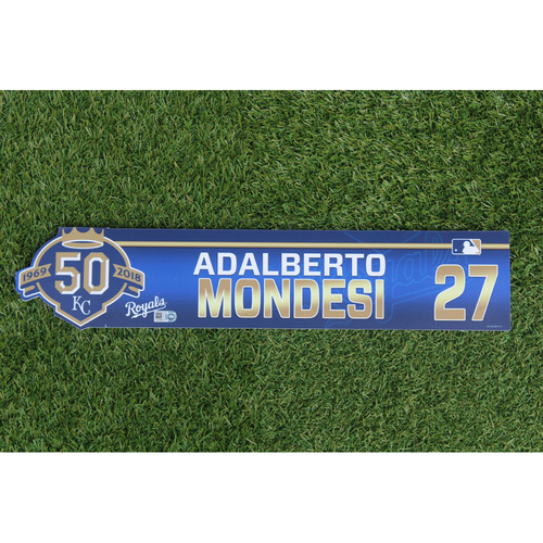 Photo of Game-Used Locker Nameplate: Adalberto Mondesi