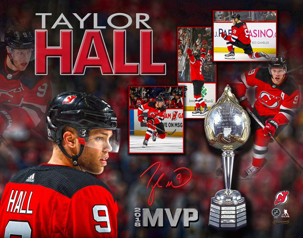 Taylor Hall Signed 11x14 Unframed Devils MVP 2018 Collage