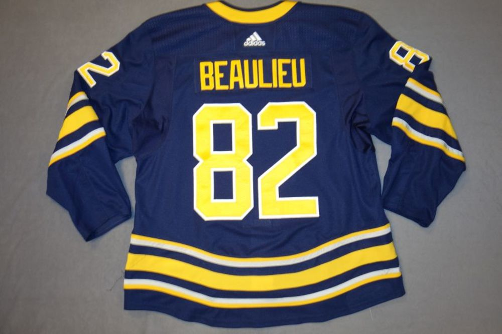 0bce6463ab4 Nathan Beaulieu 2018-19 Buffalo Sabres Set 1 Home Jersey - NHL Auctions