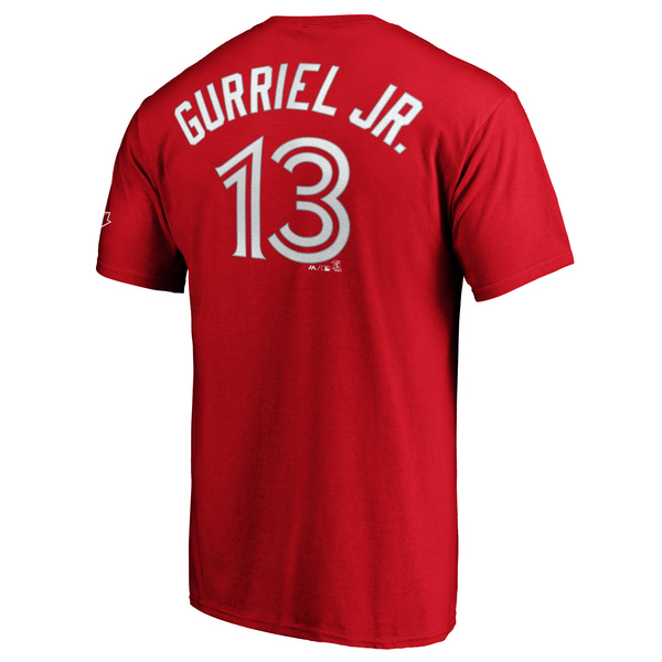 Toronto Blue Jays Lourdes Gurriel Jr. Red Player T-Shirt by Majestic