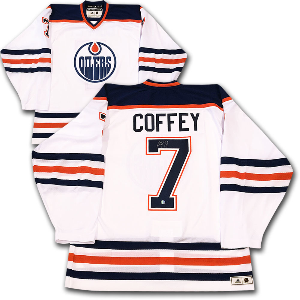 Paul Coffey Autographed Edmonton Oilers adidas Team Classics Authentic Vintage Jersey
