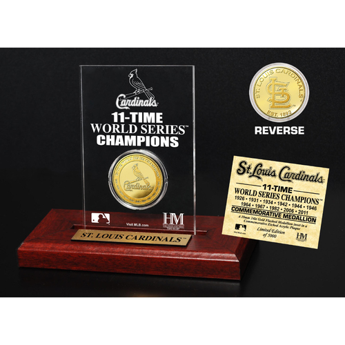 Photo of St. Louis Cardinals Gold Mint Coin Acrylic Desk Top Display