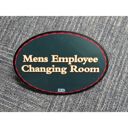 "Photo of ""Mens Employee Changing Room"" - Approximately 7""x10"""