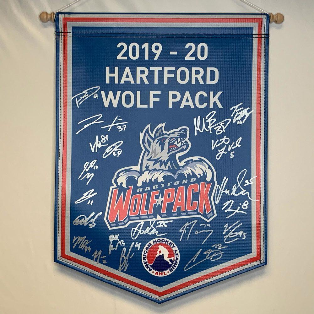 2019-20 Hartford Wolf Pack Team-Signed Banner
