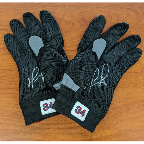 Photo of David Ortiz Autographed Game Used Batting Gloves