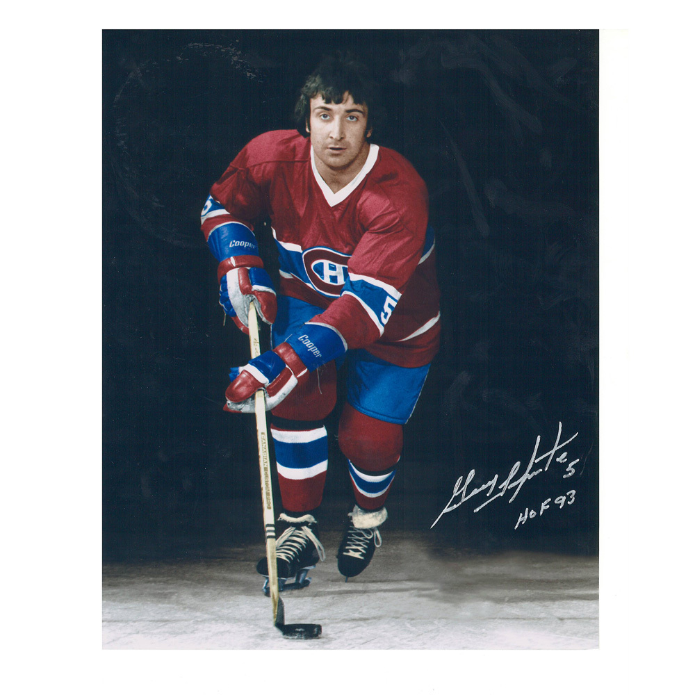 GUY LAPOINTE Signed Montreal Canadiens 8 X 10 Photo - 70403