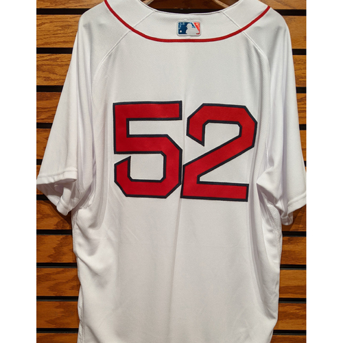 Photo of Coach Carlos Febles #52 Team Issued Home White Jersey