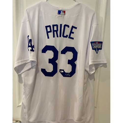 Photo of David Price Autographed Authentic Los Angeles Dodgers Jersey