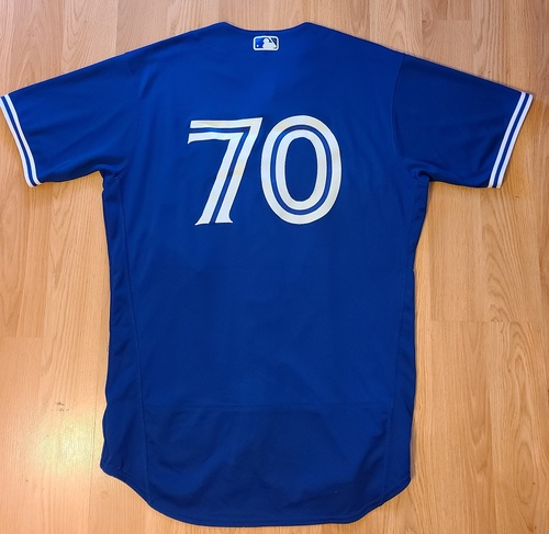Photo of Authenticated Game Used Spring Training Jersey: #70 Gabriel Moreno (Mar 28, 2021). Size 46.